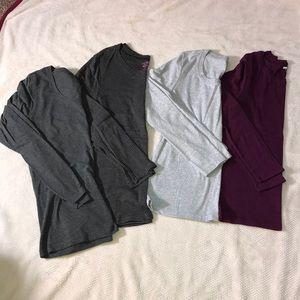 Tops - Bundle of Four Longs Sleeve Layering Tees